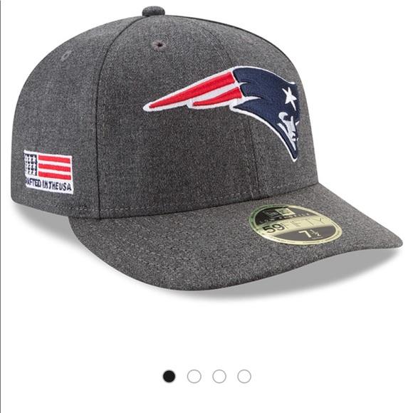"""NWOT Patriots gray fitted low profile hat 7 7 8"""". M 5b84317bb6a9421021952609 d79d1d2280c"""